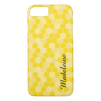 Yellow Honeycomb Pattern iPhone 7 Case