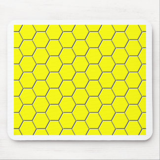 Yellow honeycomb pattern mouse pad