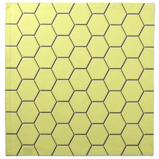 Yellow honeycomb pattern napkin