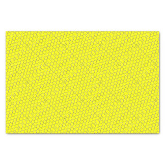 Yellow honeycomb pattern tissue paper