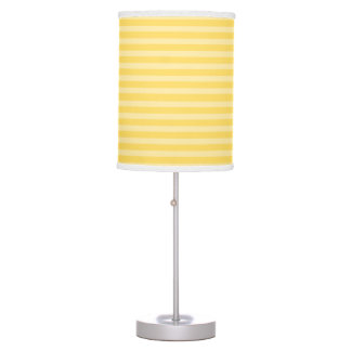 Yellow Horizontal Stripes Table Lamp