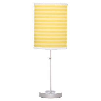 Yellow Horizontal Stripes Table Lamps
