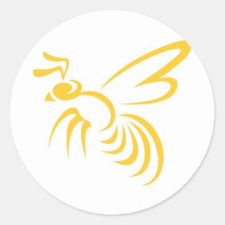 Yellow Hornet Logo Classic Round Sticker