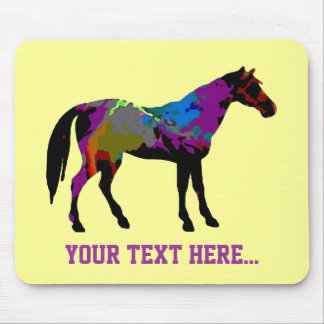 Yellow Horse Racing Design Mouse Pad
