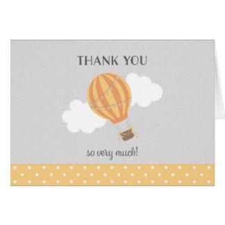 Yellow Hot Air Balloon Thank You Card