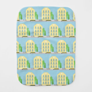 Yellow houses burp cloth