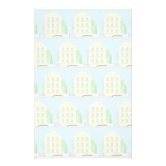 Yellow houses stationery