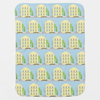 Yellow houses stroller blankets