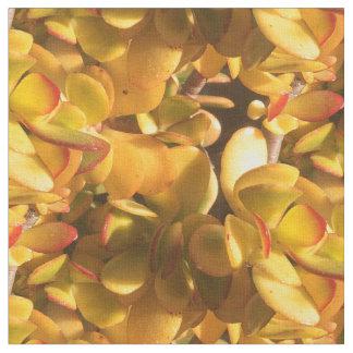 Yellow Ice Plants Fabric