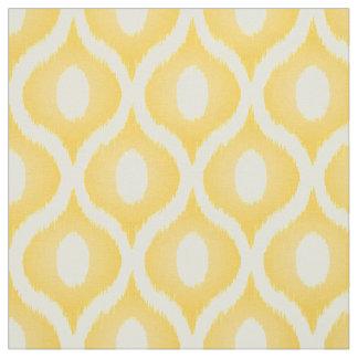 Yellow ikat moroccan design fabric