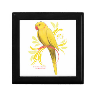 Yellow Indian Ringneck Parrot Gift Box