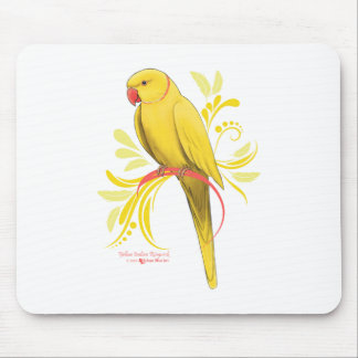 Yellow Indian Ringneck Parrot Mouse Pad