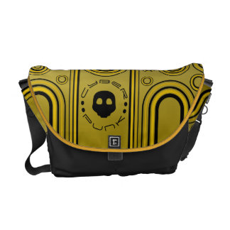 Yellow Industrial Cyber Punk Robot Futuristic Commuter Bags