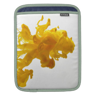 Yellow Ink Drop Fine Art Photography iPad Sleeves