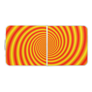 Yellow into Red via Orange Spiral Beer Pong Table