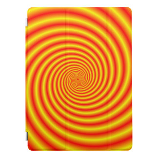 Yellow into Red via Orange Spiral iPad Pro Cover