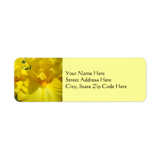 Yellow Iris Flowers Address Label stickers Floral
