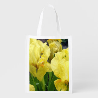 Yellow Iris flowers Grocery Bag