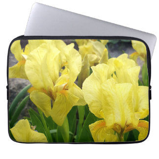 Yellow Iris flowers Laptop Sleeve