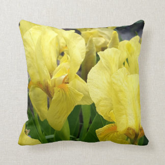 Yellow Iris flowers Throw Pillow