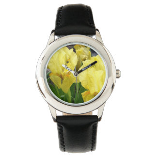 Yellow Iris flowers Watch