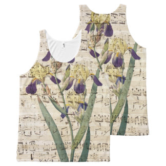 yellow iris music All-Over-Print tank top