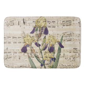 yellow iris music bath mat