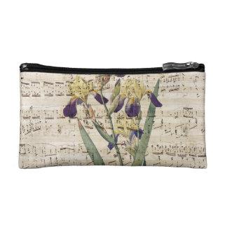 yellow iris music cosmetic bag