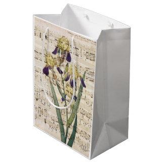yellow iris music medium gift bag