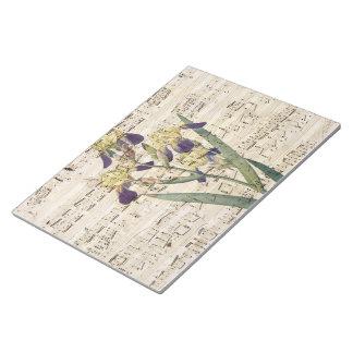 yellow iris music notepad