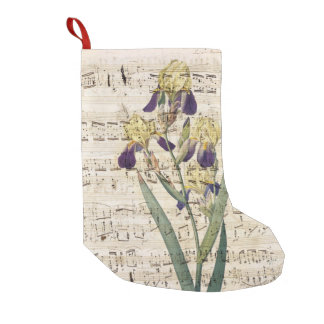 yellow iris music small christmas stocking