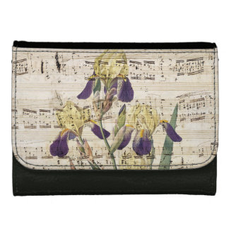 yellow iris music wallets for women