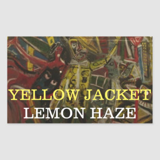 YELLOW JACKET LEMON HAZE STICKER