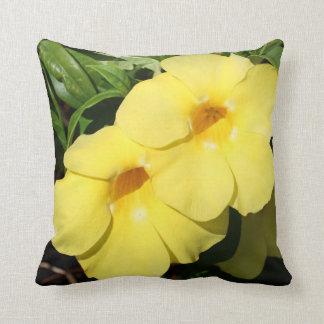 Yellow Jasmine Flower of the Caribbean photo Throw Pillow