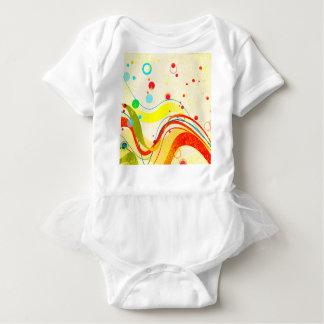 Yellow Jazz Poster Baby Bodysuit