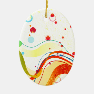 Yellow Jazz Poster Ceramic Ornament