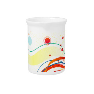 Yellow Jazz Poster Drink Pitcher