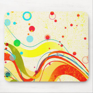 Yellow Jazz Poster Mouse Pad