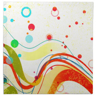 Yellow Jazz Poster Napkin