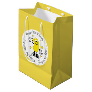Yellow Jelly Bean Personalized Birthday Medium Gift Bag