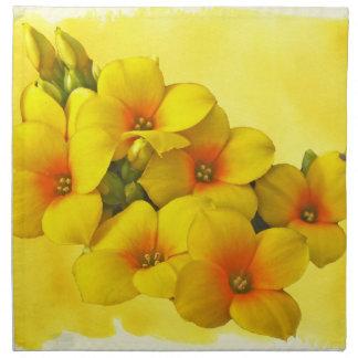 Yellow Kalanchoe - Succulent Sunshine Cloth Napkins