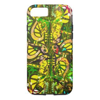 Yellow kaleidoscope iPhone 7 case