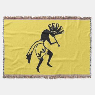 Yellow | Kokopelli Throw | Blanket