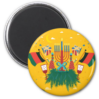 yellow Kwanzaa Magnet