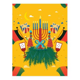 yellow Kwanzaa Postcard