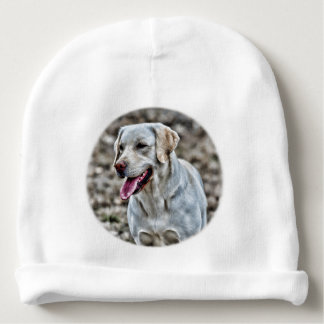 Yellow Lab Artwork Baby Beanie