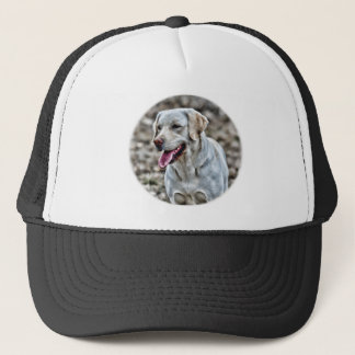 Yellow Lab Artwork Trucker Hat