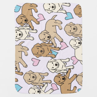 Yellow lab baby blanket