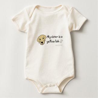yellow lab baby bodysuit
