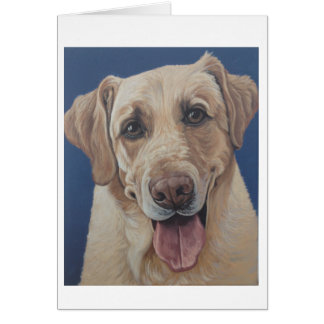 Yellow Lab Blank Inside Note Card